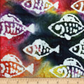 Ocean Grove Batik Small Fish Multi/White