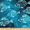 Ocean Grove Batik Small Fish Blue/Multi