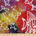 Ocean Grove Batik Large Fish Multi/White