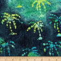 Ocean Grove Batik Small Palm Tree Navy/Green