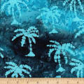 Ocean Grove Batik Small Palm Tree Blue/Multi