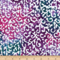 Sarasota Batik Small Scroll White/Purple/Teal