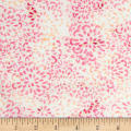 Banyan Batiks Darling Lace Abstract Floral Pink/Orange