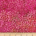 Banyan Batiks Darling Lace Abstract Floral Fuchsia/Orange