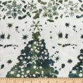 Northcott Winter Light Fireside Green
