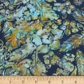 Banyan Batiks Feathers Flowers & Feathers Teal/Orange