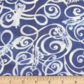 Banyan Batiks Feathers Flourish Feathers Blue/White