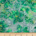 Banyan Batiks Mary Green/White