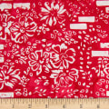 Banyan Batiks Mary White/Red