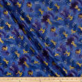 Kokka Pastel Pop Double Gauze Shooting Star Unicorn Metallic Purple
