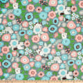 Cosmo Gardener's Path Oxford Floral And Cats Toss Grey