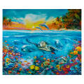 "Robert Kaufman Picture This Adventure Sealife 36"" Panel"