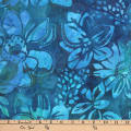 Kaufman Gazebo Batik Flowers Teal