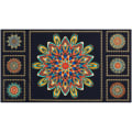 "Kaufman Terracina 24"" Panel Medallions Metallic Jewel"
