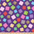 QT Fabrics Crazy For Crafting Fabric Patches Purple
