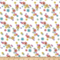 QT Fabrics Party Like A Unicorn Flowers White