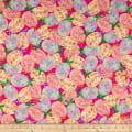 QT Fabrics Happy Easter Packed Easter Eggs & Bows Hot Pink