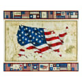 "QT Fabrics American Pride Us Flag 36"" Panel Multi"