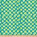 QT Fabrics  Mirage Interlocking Circles Light Green