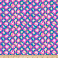 QT Fabrics  Mirage Interlocking Circles Pink