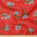Telio Clip Poly Chiffon Floral Red Blue