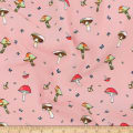 Telio Picasso Rayon Poplin Mushrooms Blush