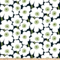 Marimekko Pieni Unikko Cotton Black/White/Green