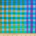 Kaufman Artisan Batiks Hand Painted Gingham Check Multi