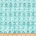 Michael Miller Kashmir Gardens Lattice Turquoise
