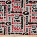 NCAA Fleece Georgia Heather Verbiage