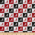 NCAA Cotton Broadcloth Alabama Collegiate Check
