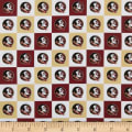 NCAA Cotton Broadcloth Florida State Collegiate Check