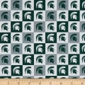 NCAA Cotton Broadcloth Michigan State Collegiate Check
