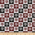 NCAA Cotton Broadcloth Texas A&M Collegiate Check