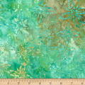 Timeless Treasures Tonga Batik Mini Emerald Blossoming Emerald