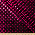 Checker Foil Spandex Knit Black/ Magenta
