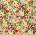 Romantique Digital Print Floral Blue/Red/Yellow
