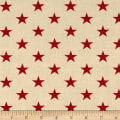 "Patriotic 108"" Quilt Backs Stars Red/Antique"