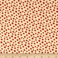 "Patriotic 108"" Quilt Backs Small Stars Red/Antique"