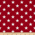 "Patriotic 108"" Quilt Backs Stars Red/Antique/White"