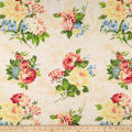 Romantique Digital Print Floral Ivory/White