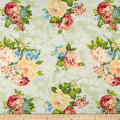 Romantique Digital Print Floral Sage/White