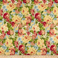 Romantique Digital Print Floral Ivory/Burgundy