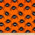Halloween Creepy Spiders Orange/Black
