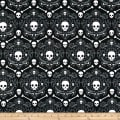 Halloween Geo Skulls Black Gray