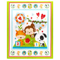 """Henry Glass Flannel Puppy & Pals 36"""" Panel Multi"""