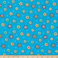 Henry Glass Flannel Puppy & Pals Stars Blue