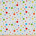 Henry Glass Celebrate Summer Various Sized Dots White/Multi