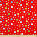 Henry Glass Celebrate Summer Various Sized Dots Red