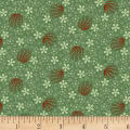 Clothworks Wintertide Orbs Dark Olive